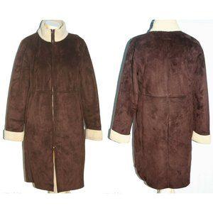 Ralph Lauren faux shearling coat sz. M women's EUC
